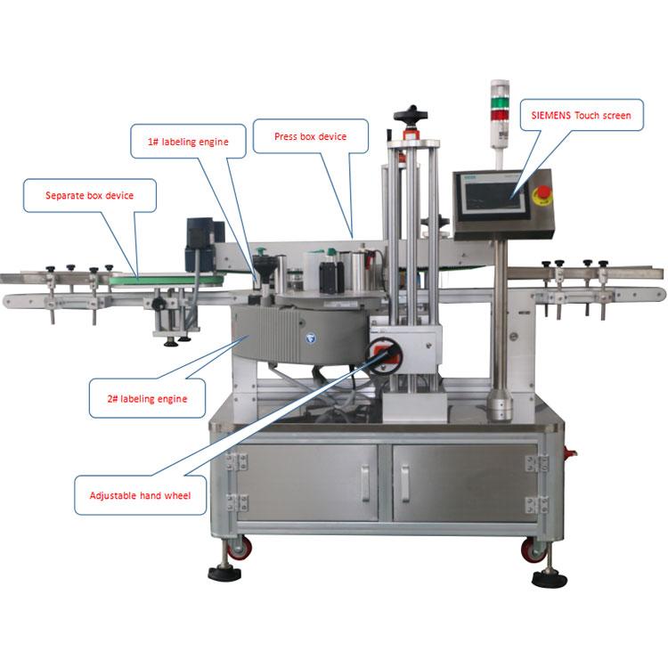 自動カートンボックスコーナーラベリングマシンの詳細